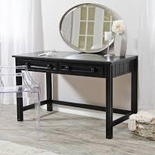 vintage black stained oak wood vanity table for bedroom with drawers and square legs also u antique black bedroom furniture