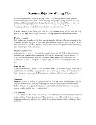 example resume objective writing tips shopgrat sample objective writing tips resume
