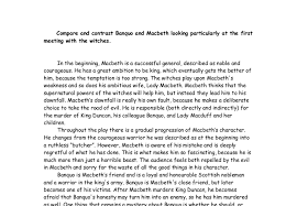 compare and contrast banquo and macbeth looking  icularly at    document image preview