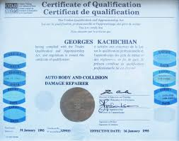 qualification certifications golf auto auto collision repair kitchener waterloo qualification certificate