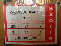 Morgan Thermal Ceramics 2amp034 Ceramic Fiber Insulation Blanket Kaowool Rt 2300f 8