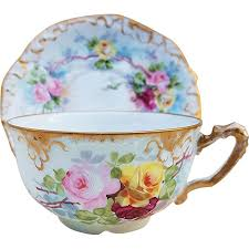Exquisite <b>A.K. France</b> Limoges Vintage 1890's Hand Painted Red ...
