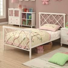 piece emmaline upholstered panel bedroom:   juliette metal platform bed white pink