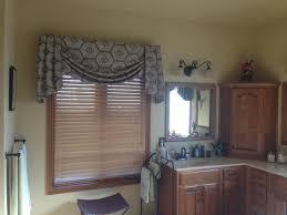 bathroom valance master bathroom valance roman shade with jabots abda window fashions