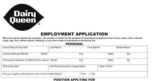 dairy queen employment application pdf use resume in a sentence dairy queen employment application pdf use resume in a sentence regarding burlington coat factory printable application form