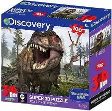 """Игры и Игрушки - <b>Пазл 3D 100 элементов</b> """"Тираннозавр"""" (31 x 23 ..."""