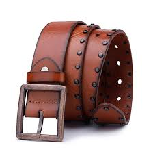 China <b>2019 Fashion</b> Design Mens <b>Vintage Rivets</b> Brown Leather ...