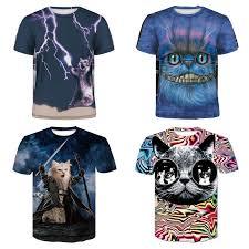 <b>Summer</b> Street Hip Hop Cat T-shirt Outdoor <b>Casual Men's Sports</b> ...