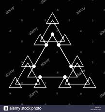 Sacred <b>geometry triangle</b> based symbol and elements. Alchemy ...
