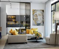 best modern living room designs: need a new accent color these modern yellow accent living room designs