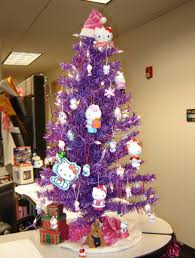 colorful christmas tree daccor pretty christmas decorations purple christmas tree hello kitty ornamen