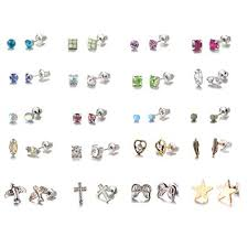 NATUCE <b>20 Pairs</b> Crystal Earring <b>stud</b> Sets for Girls, Girls Earrings ...