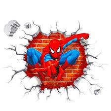 Polly Online <b>2PCS</b> Spiderman <b>Wall Decals</b> 3D <b>Wall Stickers</b> for Kids ...
