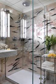 bathroom design ideas d house small bathroom with de gournay wallpaper