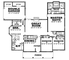 Scotland Ranch Home Plan D    House Plans and MoreTraditional House Plan First Floor   D    House Plans and More