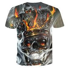 Online Shop 20189 Hot sale <b>New</b> Mens Summer <b>Skull</b> crown <b>Poker</b> ...