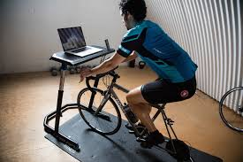 desk for indoor cycling and standing wahoo fitness bike office chair