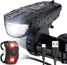 Vont 'Breeze' Bike Light Set, USB Rechargeable ... - Amazon.com