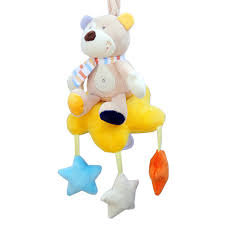 <b>Baby</b> Wind-up Musical <b>Stuffed Animal Stroller</b> Crib Hanging Bell with ...