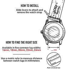 Archer <b>Watch Straps</b> - <b>Silicone</b> Quick Release Replacement Watch ...