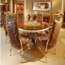 French Style Dining Room Furniture Luxury French Baroque Style Dining Room Sets Classic Golden Wood
