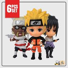 <b>Naruto Anime</b> Chibi 6pcs./<b>Set</b> Mini Figure with Base Toy | Shopee ...