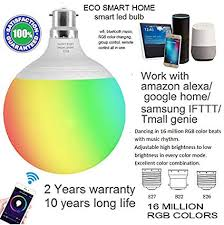 Buy Ecosmarthome Smart Halogen <b>LED Bulb</b> (<b>15W</b>, B22) <b>WiFi</b> and ...
