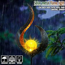 jieGREAT <b>Solar Lawn Lamp</b> Waterproof <b>Yard Lamps</b> Dancing Flame ...