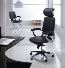 cool modern computer chair modern minimalist office room design with cozy black leather pads of black leather office design