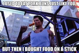 DeviantArt: More Like Sleeping Dogs meme - pork bun food on a ... via Relatably.com
