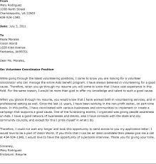 Cover Letter For Volunteer Position - The Letter Sample