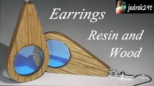 How to make Earrings <b>Resin</b> and Wood/Jak zrobić <b>Kolczyki</b> z Żywicy ...