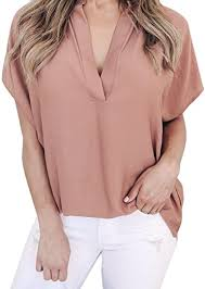 Kanzd <b>Women Ladies Summer</b> Chiffon Short Sleeve Casual Shirt ...