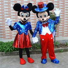 USA Flag Minnie & Mickey <b>Mascot Costume Cartoon Character</b> ...