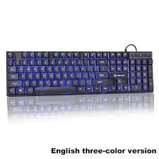 <b>Wired</b> Keyboard Mechanical Feel Backlit Keyboard USB 104 ...