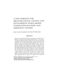 academic paper a new horizon for organizational change and academic paper a new horizon for organizational change and development scholarship connecting planned and emergent change
