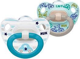 NUK <b>Happy</b> Days <b>Baby</b> Dummies, 0-6 Months, <b>Silicone</b>, BPA Free, 2 ...