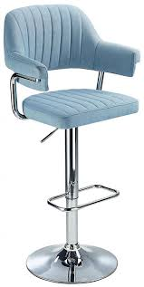 Vibe <b>Retro Style</b> Adjustable Bar <b>Stool</b> with Padded <b>Fabric</b> Seat And ...