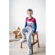 <b>Лонгслив</b> для мальчика <b>Batik</b> 6570626 серый купить оптом в ...
