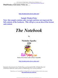 pmnotebook nicholas sparks sample com