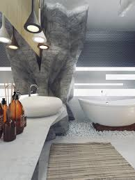 luxury bathrooms design with amazing detail smooth marble countertop grey bathroom in cave style also awesome awesome bathroom design nice pendant