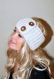 17 best ideas about winter headbands knit headband earwarmer buttons winter wool crochet headband chunky ear warmer choose color cloud vanilla ivory warm hair band button gift under 50