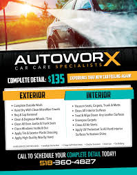 downlosd our new premium flyer for your carwash promotion car autoworx auto detailing flyer print advertising car facebook autoworxdetails
