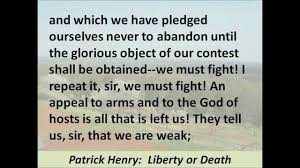 famous persuasive speech list at least three rhetorical devices that patrick henry uses in list at least three rhetorical
