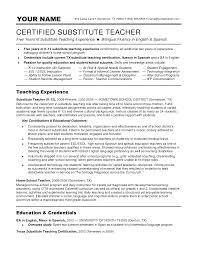 cover letter sample resume substitute teacher sample resume cover letter resume substitute teacher resume sle exlesample resume substitute teacher extra medium size