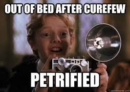 Out of bed after curefew petrified - Colin Creevey - quickmeme via Relatably.com
