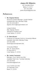 reference list for resume