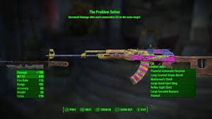 fallout nuka world unique weapon the problem solver quickie fallout 4 nuka world unique weapon the problem solver quickie