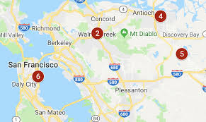 Map: 6 die in weekend crashes in the Bay Area