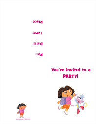 dora the explorer printable birthday party invitation dora the explorer printable birthday party invitation personalized party invites